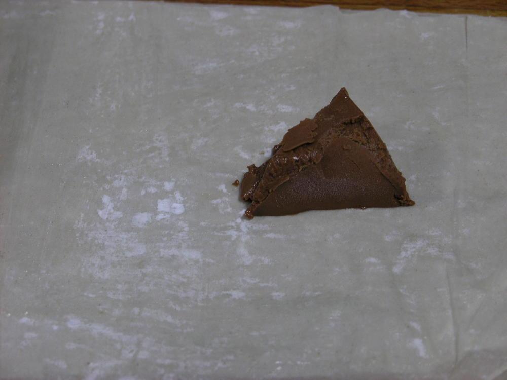 Farcellet de pasta filo amb ganache de xocolata
