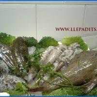 cistella de peix de Cambrils: calamar, llenguado, sèpia, rap