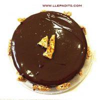 pastis de xocolata i mousse de torró