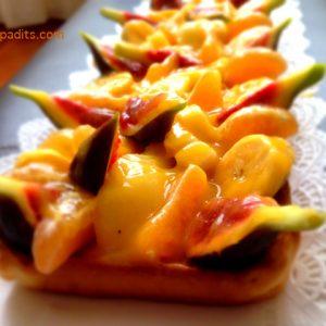 banda de fruita acolorida, amb pasta brisa