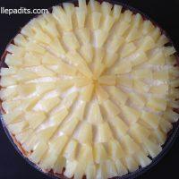 cheese cake de pinya, pastís de formatge amb pinya