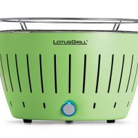 lotus grill, barbacoa sense fum de color verd