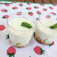 Amanida amb got i salsa de iogur amb menta fresca