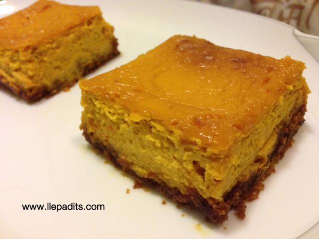 Cheesecake de carbassa potimarron