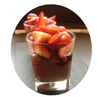 gots maduixa ratafia amb iogur de xocolata