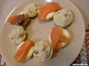 Tartaletes variades de peix