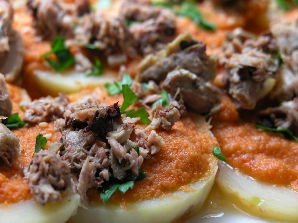 Amanida d'estiu amb patata i melva