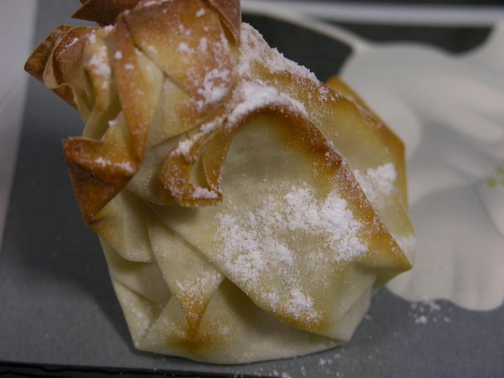 farcellet amb gelat de pera a la llima