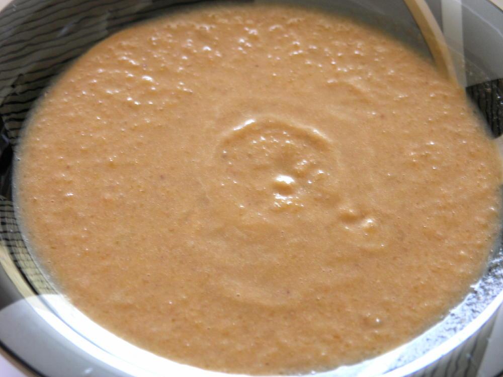 """Sopa de  fajol (""""trigo sarraceno""""), carbassa i caldo de pop"""