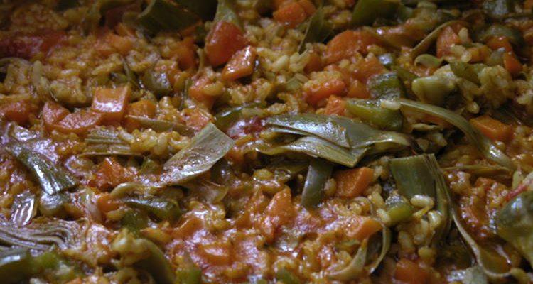 Paella Vegetal amb Arròs integral