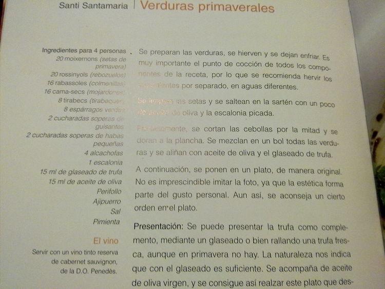 recepta Santi Santamaria