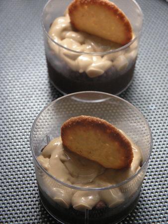 gotet de crema de xocolata amb capuccino