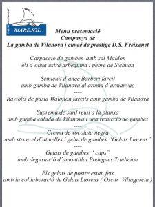 menu gamba de Vilanova