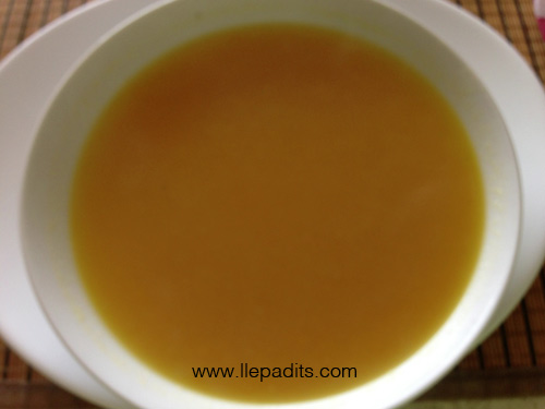 Sopa de carbassa i ceba