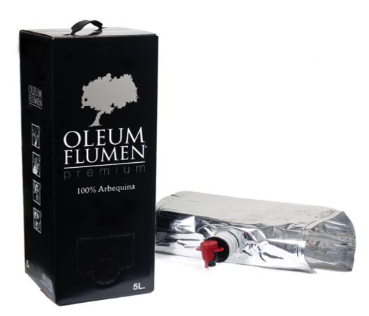 5 litres d'Oli verge extra d'oliva arbequina Oleum Flumen