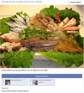 Resultats sorteig cistella de peix de Cambrils