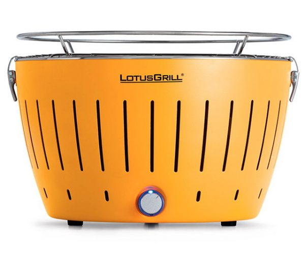 lotus grill, barbacoa sense fum de color groc