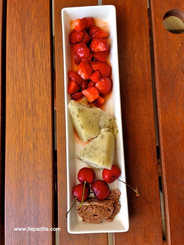 sorbet alfàbrega i fruites vermelles