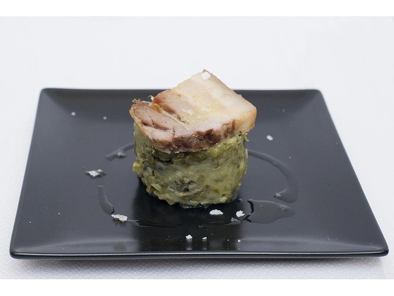Trinxat espigalls - Nit de la gastronomia Vilanova i la Geltrú